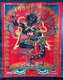 Vajrayoginī (Sanskrit: Vajrayoginī; Tibetan: Dorje Naljorma, Wylie: Rdo rje rnal 'byor ma; Mongolian: Огторгуйд Одогч, Нархажид, Chinese: 瑜伽空行母 Yújiā kōngxíngmǔ) is the Vajra yoginī, literally 'the diamond female yogi'.<br/><br/>  She is a Highest Yoga Tantra Yidam (Skt. Iṣṭha-deva), and her practice includes methods for preventing ordinary death, intermediate state (bardo) and rebirth (by transforming them into paths to enlightenment), and for transforming all mundane daily experiences into higher spiritual paths.<br/><br/>  Vajrayoginī is a generic female yidam and although she is sometimes visualized as simply Vajrayoginī, in a collection of her sādhanas she is visualized in an alternate form in over two thirds of the practices. Her other forms include Vajravārāhī (Tibetan: Dorje Pakmo, Wylie: rdo-rje phag-mo; English: the Vajra Sow) and Krodikali (alt. Krodhakali, Kālikā, Krodheśvarī, Krishna Krodhini, Sanskrit; Tibetan:Troma Nagmo; Wylie:khros ma nag mo; English: 'the Wrathful Lady' or 'the Fierce Black One' ).<br/><br/>  Vajrayoginī is a ḍākiṇī and a Vajrayāna Buddhist meditation deity. As such she is considered to be a female Buddha.